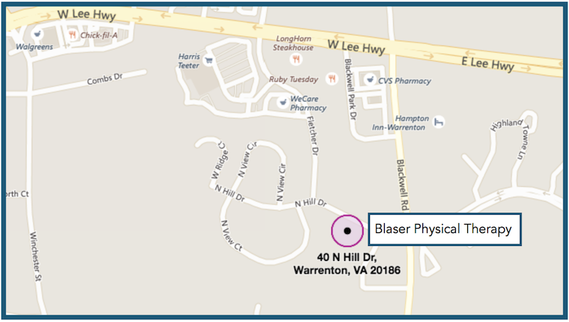 Blaser Physical Therapy, 40 North Hill Dr., Warrenton VA