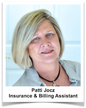 Patti Jocz, Insurance and Billing Coordinator