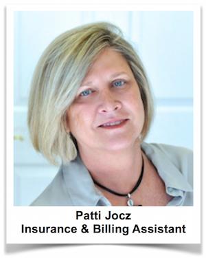 Patti Jocz, Insurance and Billing Coordinator