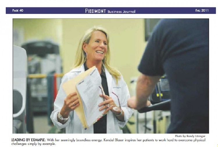 Blaser Physical Therapy Warrenton VA Piedmont Business Journal Article Fall 2011