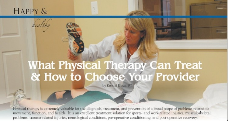 Blaser Physical Therapy article January 2013 Warrenton Lifestyle Magazine