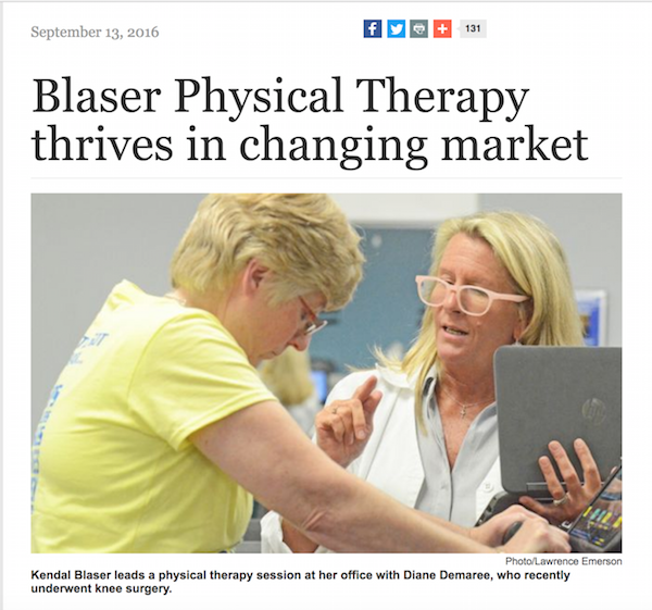 Blaser Physical Therapy Thrives in Changing Market